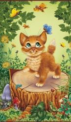 Котенок - греющая инфракрасная, настенная картина гибкая