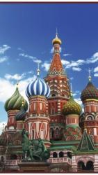 Москва - греющая инфракрасная, настенная картина гибкая