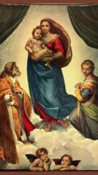 Сикстинская мадонна - греющая инфракрасная, настенная картина гибкая